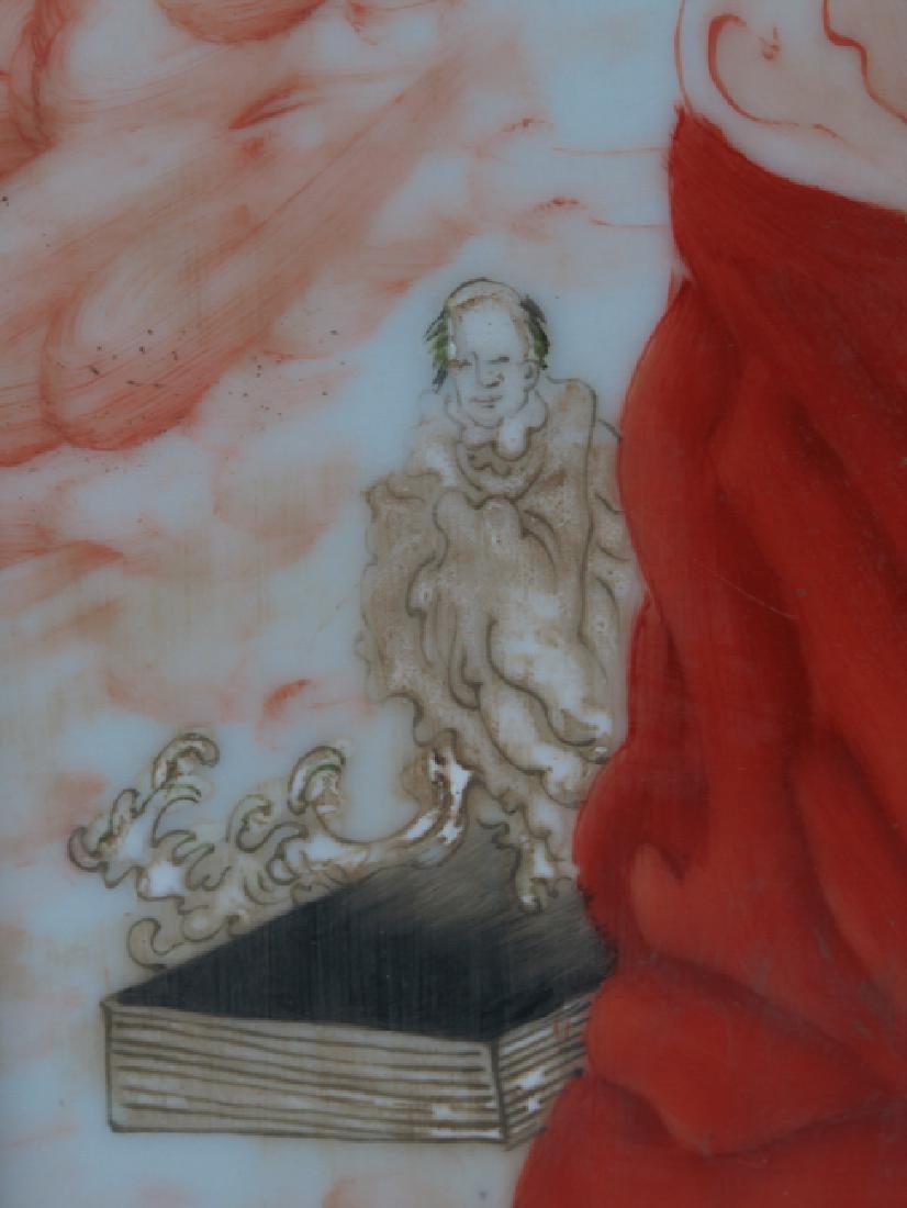 A porcelain plaque BY Wong Bu - 5