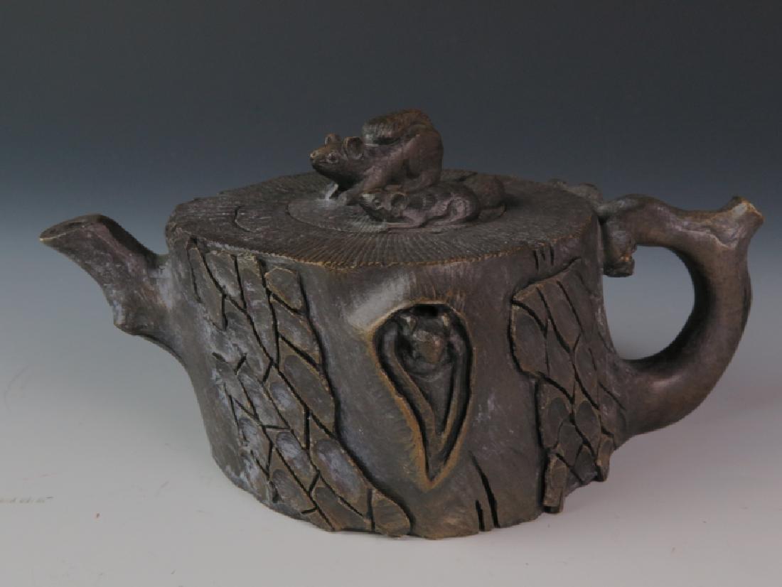A stone tea pot