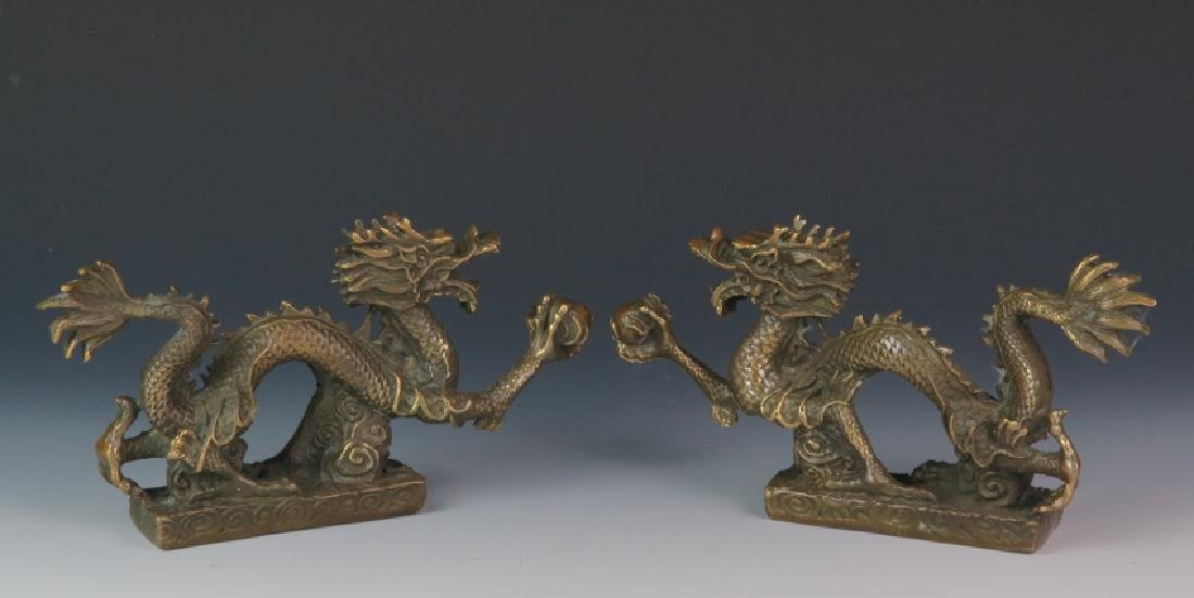 A pair of Bronze dragon
