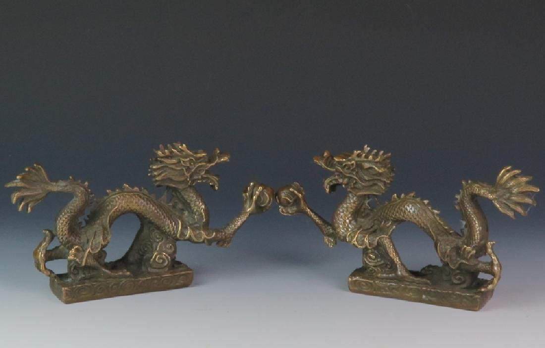 A pair of Bronze dragon - 2