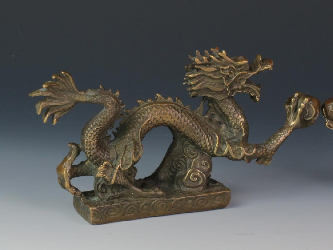 A pair of Bronze dragon - 3