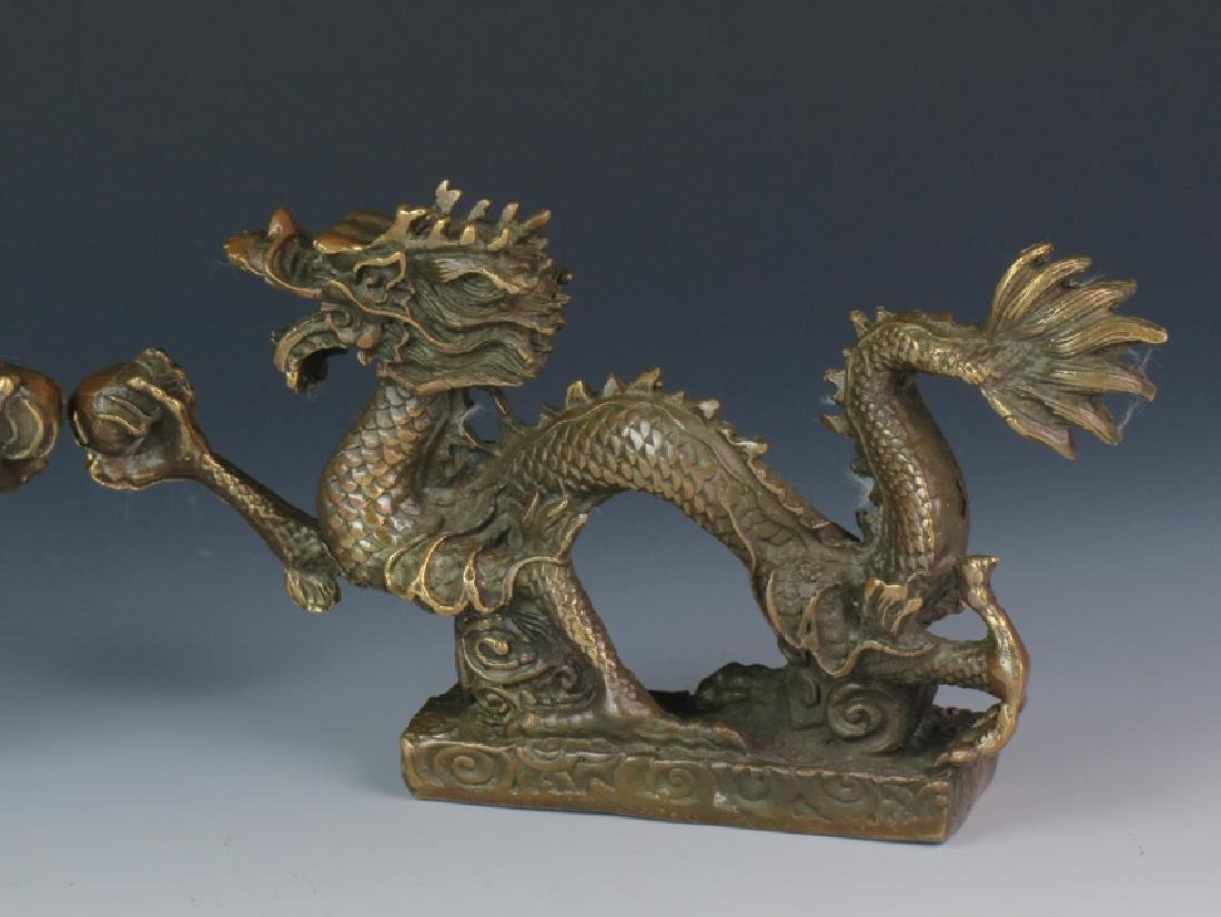 A pair of Bronze dragon - 4