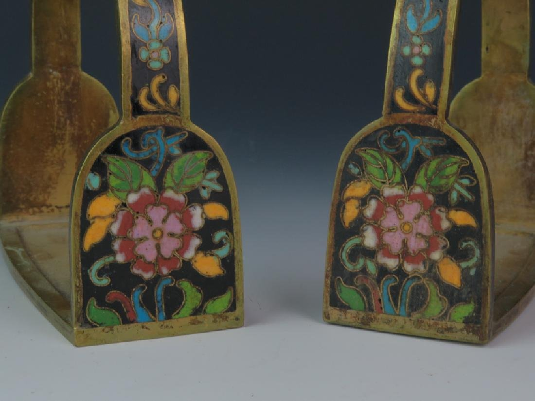 A pair of cloisonné saddle - 2