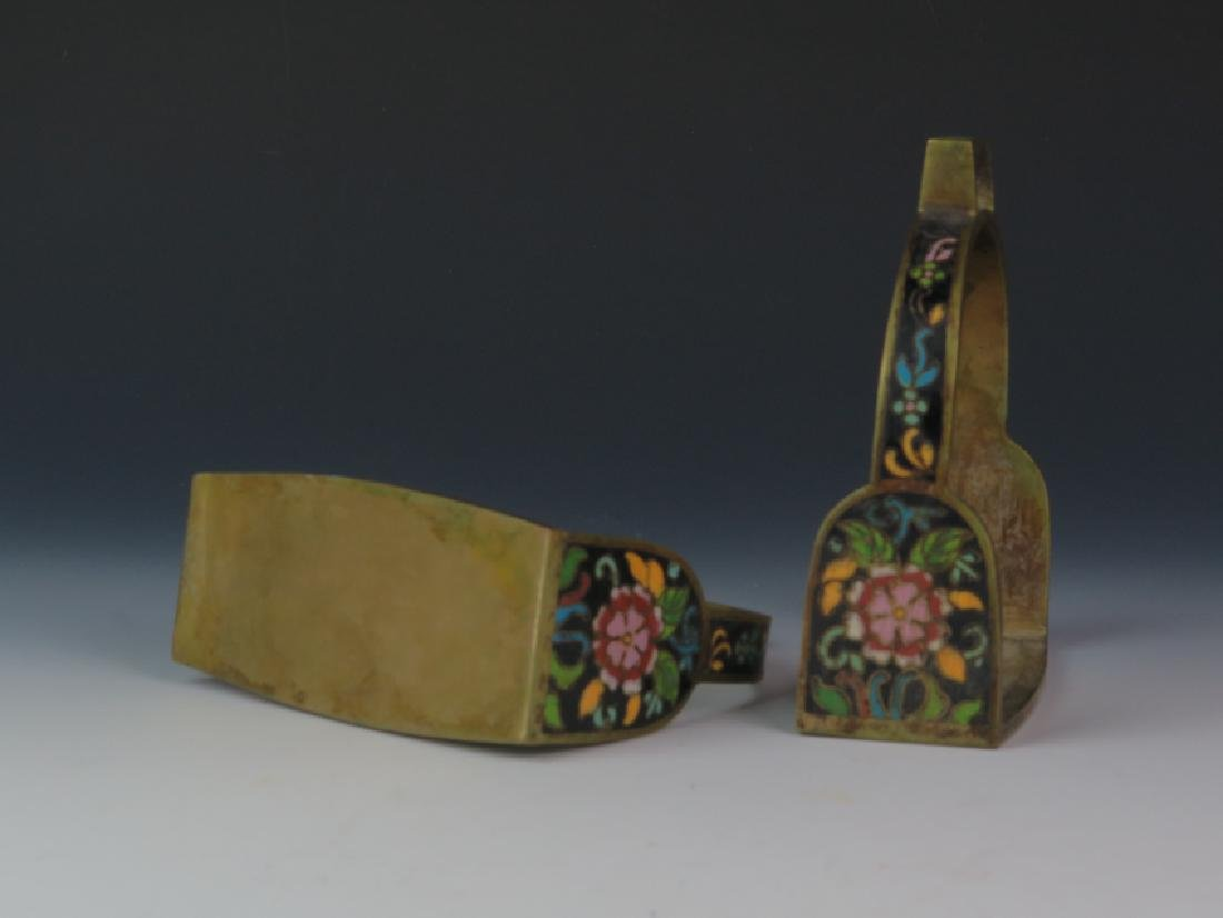 A pair of cloisonné saddle - 3