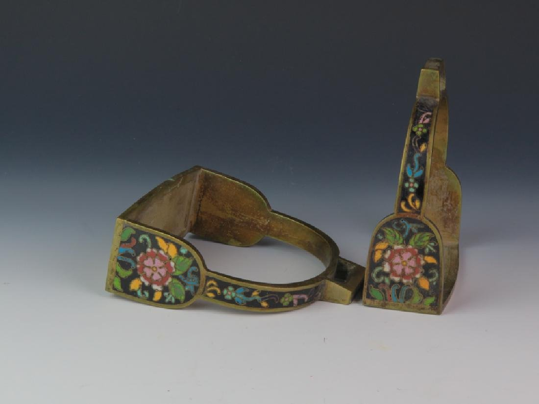 A pair of cloisonné saddle - 4