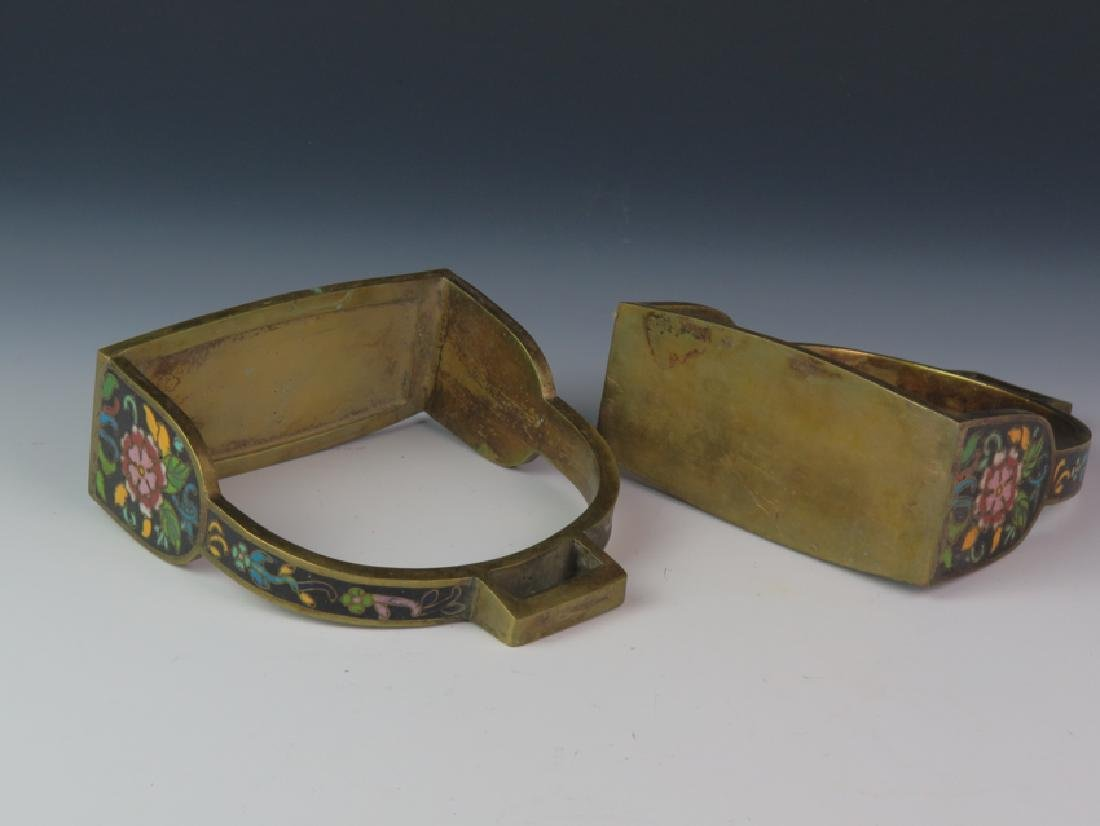 A pair of cloisonné saddle - 5