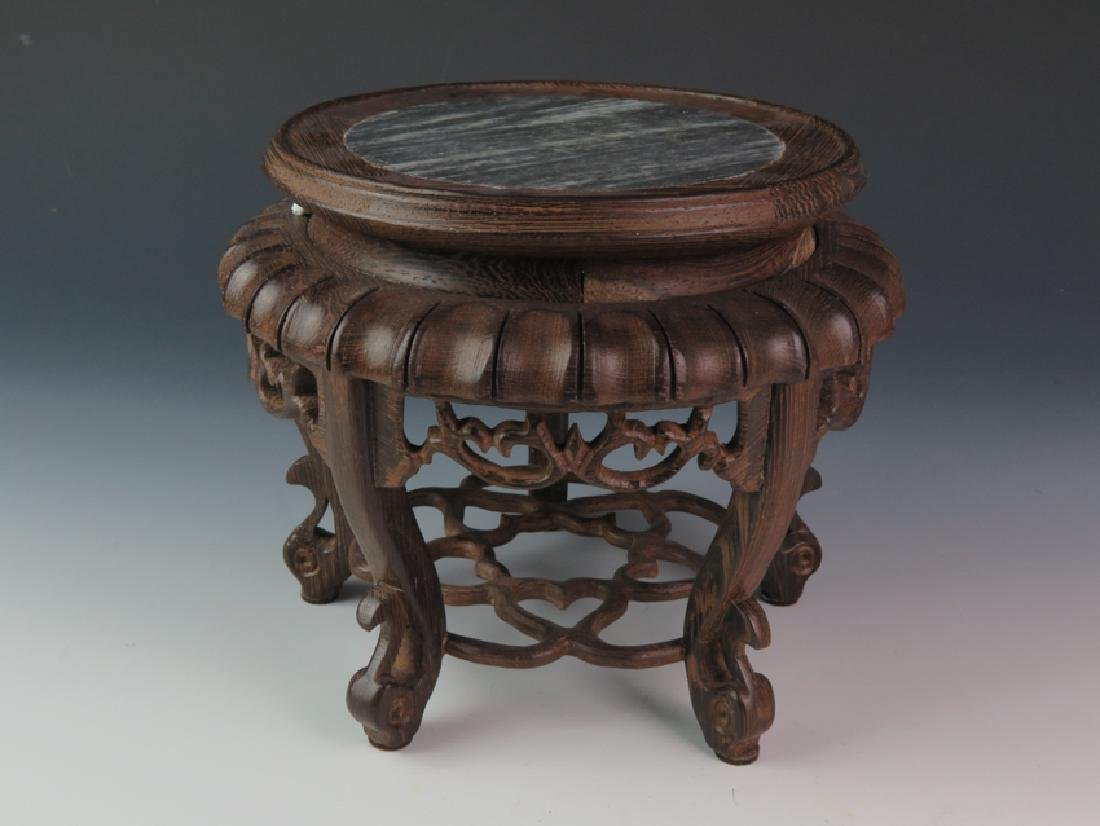 A pair of wooden marble stand - 3