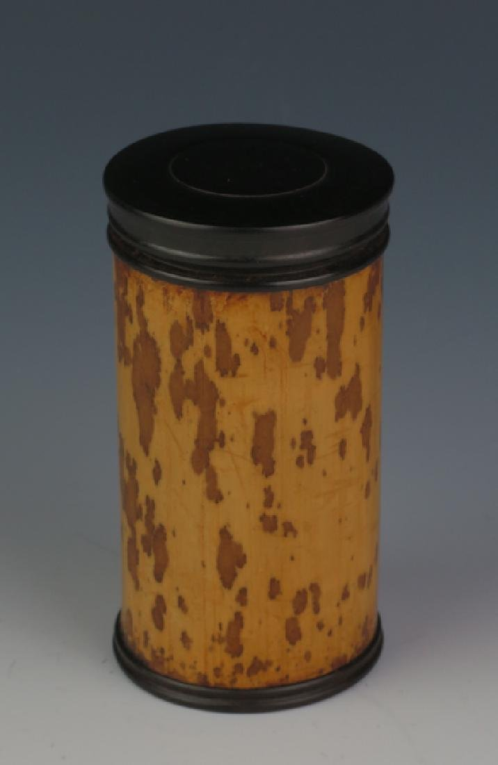Bamboo tea can