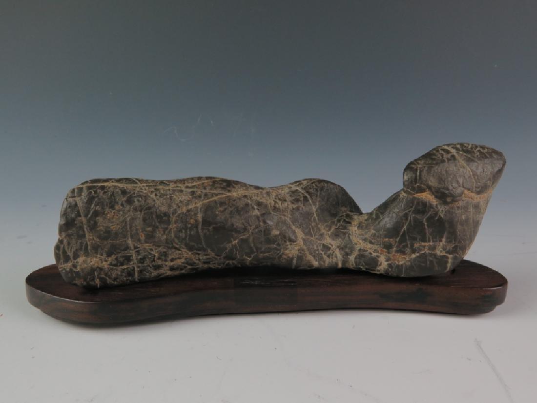 Lingbi stone and sitting