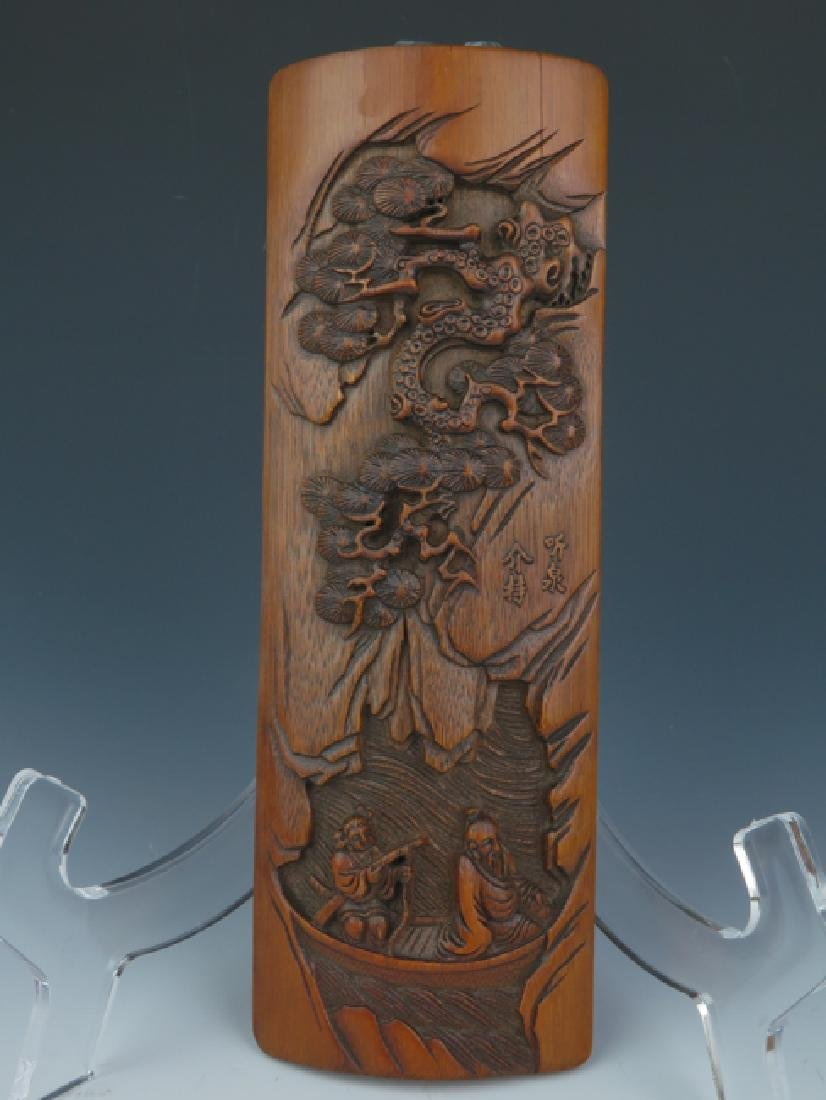 A bamboo carving wrist rest - 2