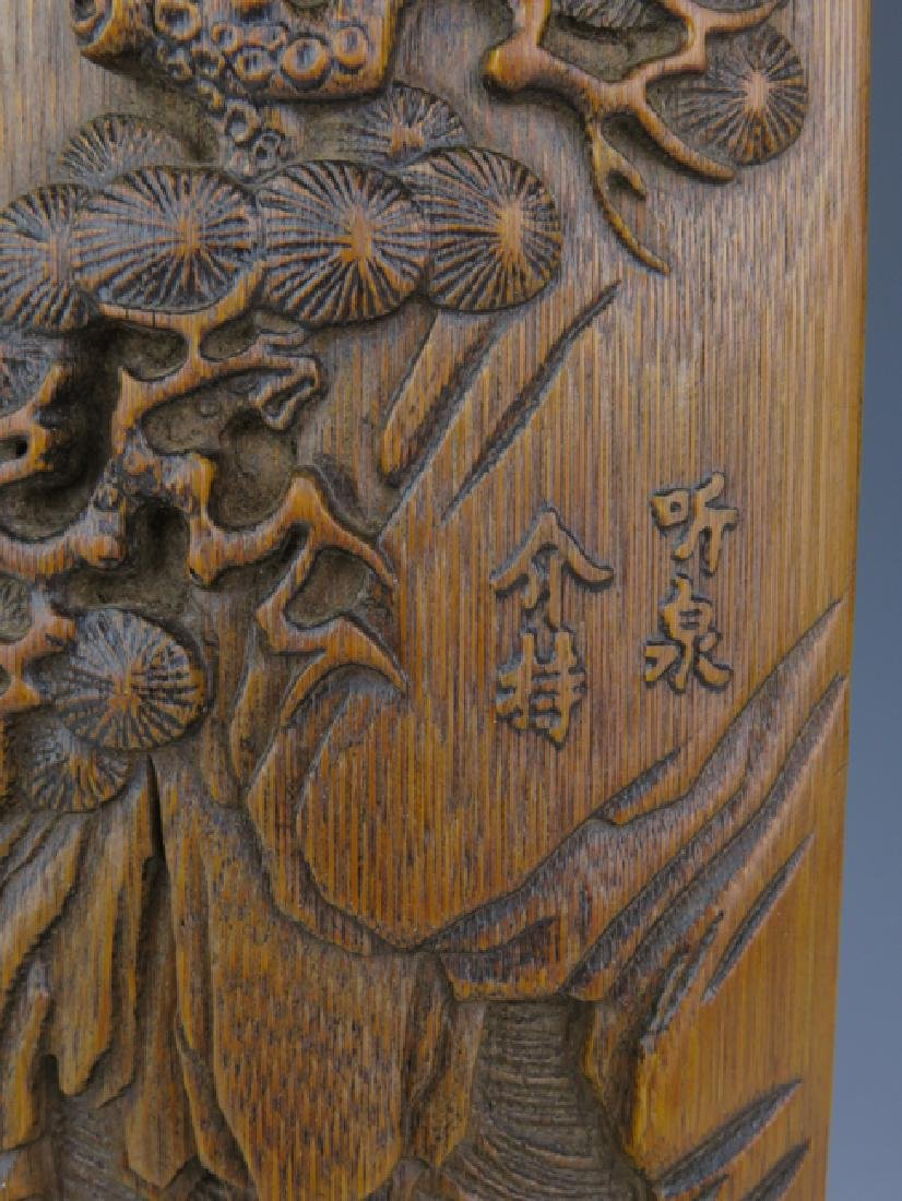 A bamboo carving wrist rest - 4