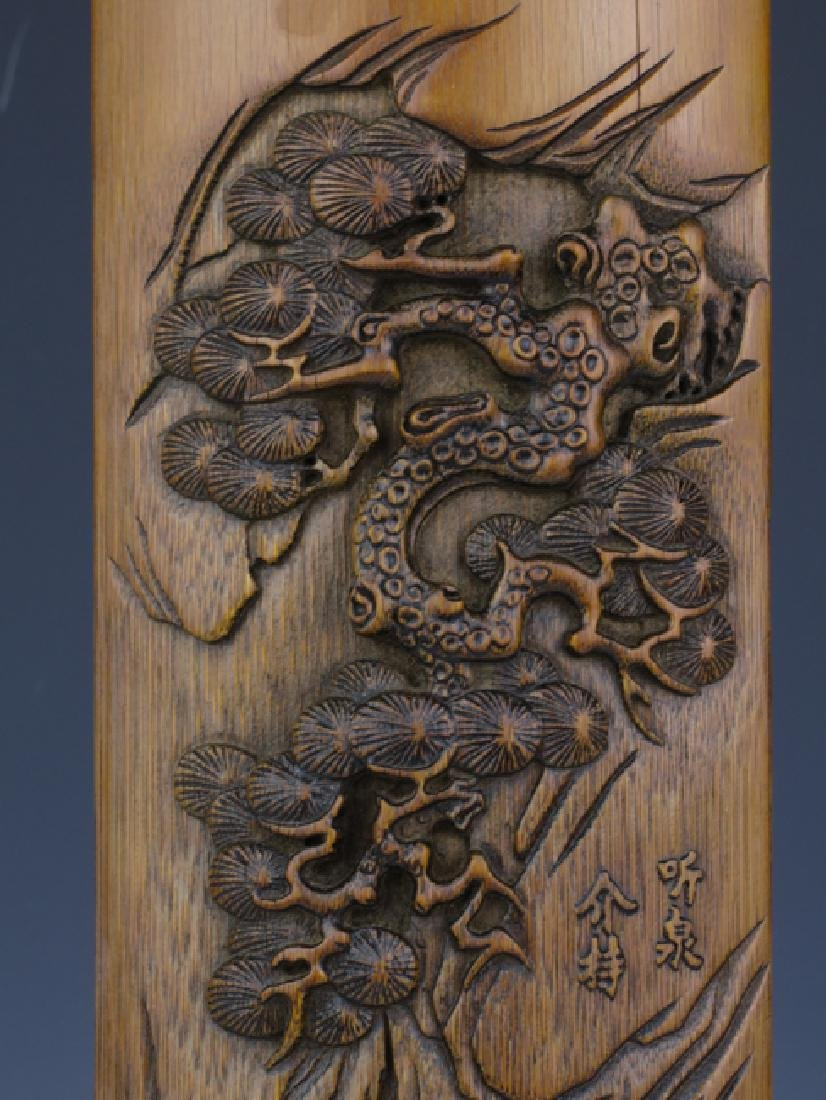 A bamboo carving wrist rest - 6