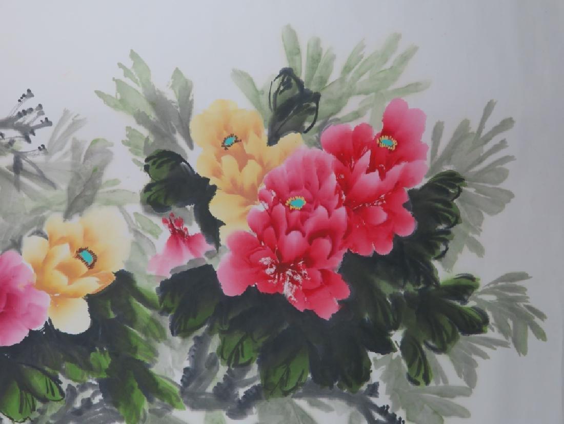 Peony flower hanging scroll - 6