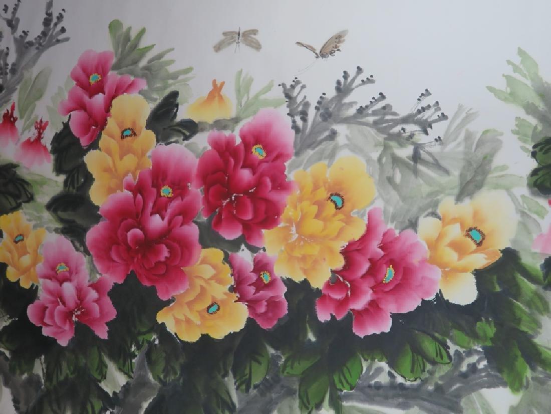 Peony flower hanging scroll - 7