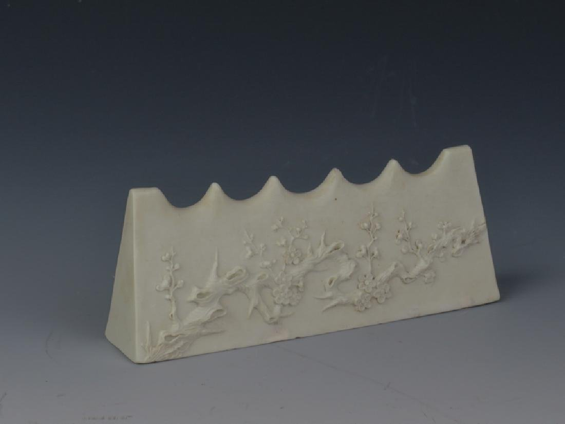 A set of four white glazed stationery - 7