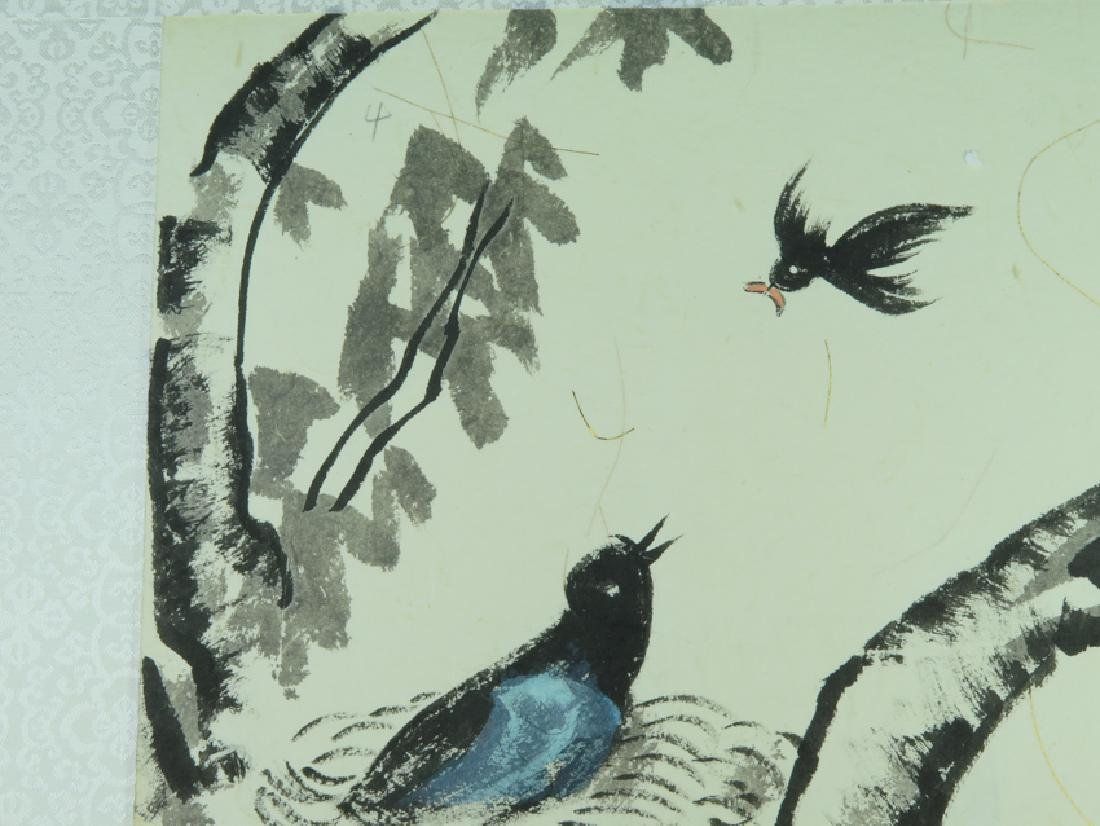"""A color and ink on paper"""" bird"""" painting - 8"""