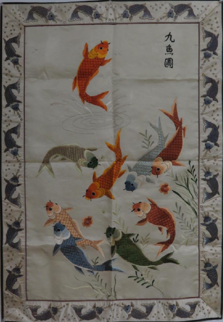 "A silk'nine fish""hanging"