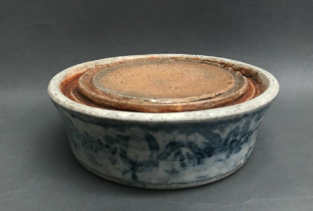 Chinese Blue and White Inkstone