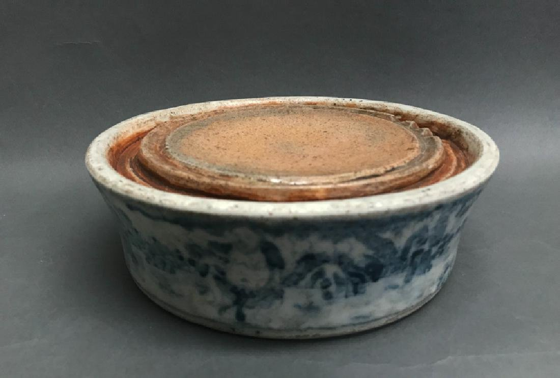Chinese Blue and White Inkstone