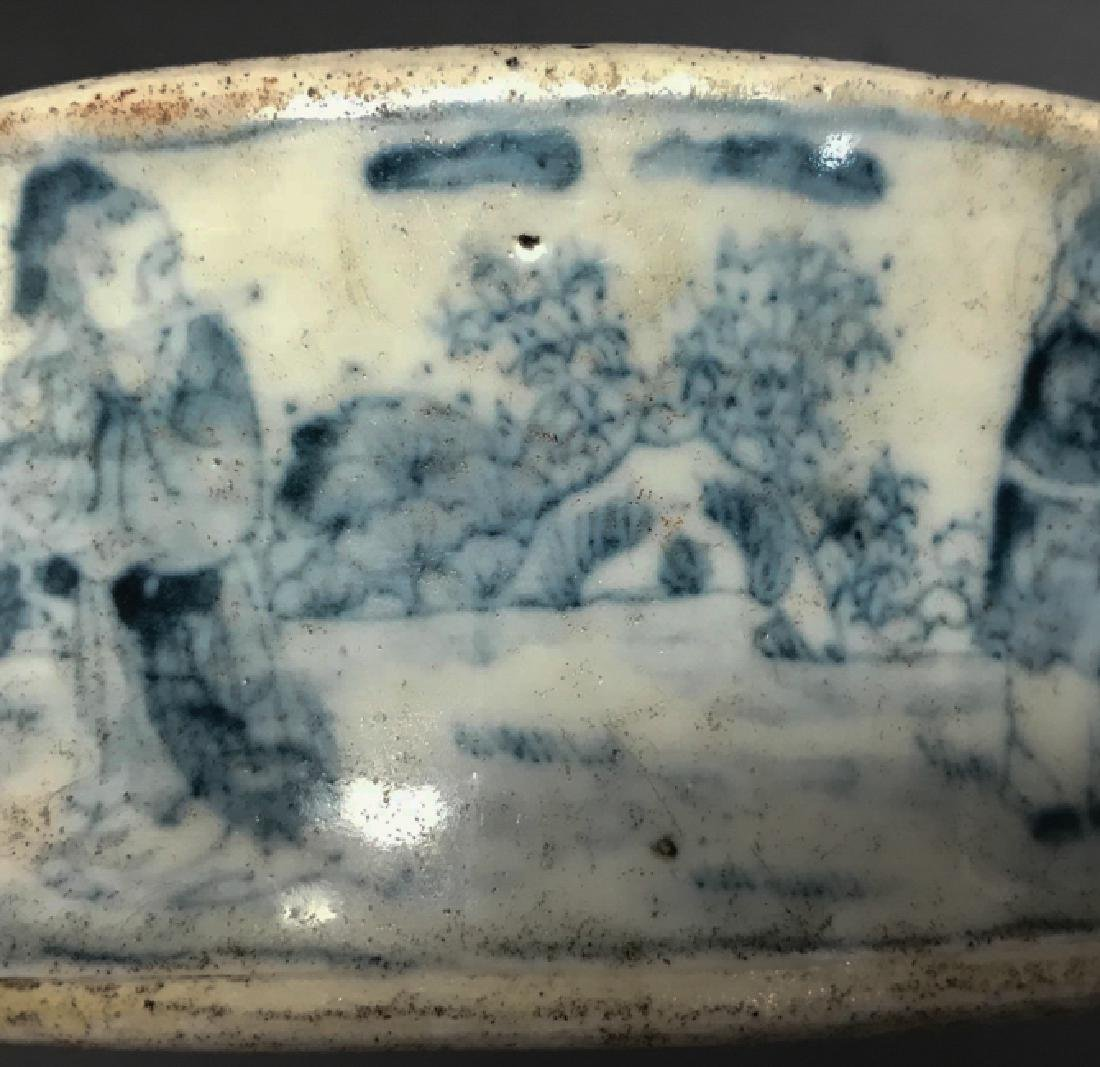 Chinese Blue and White Inkstone - 4