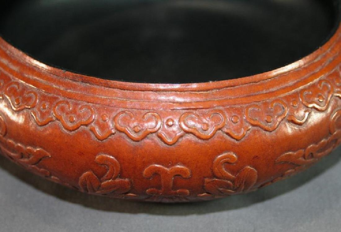 Asian Gourd Carved Water Pot - 3