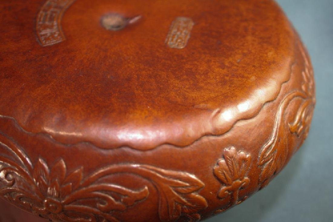 Asian Gourd Carved Water Pot - 7