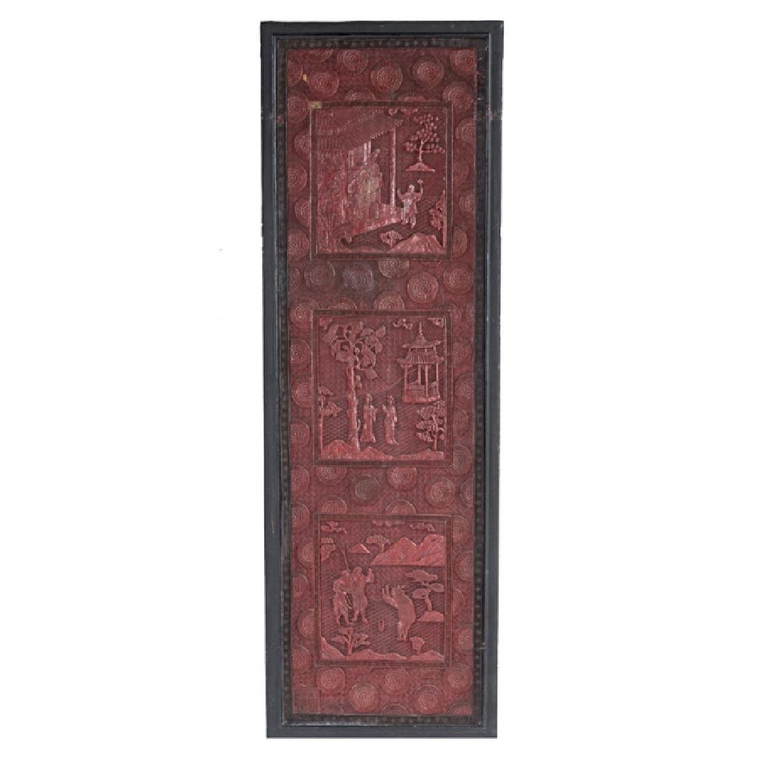 Chinese cinnabar lacquer panels - 3