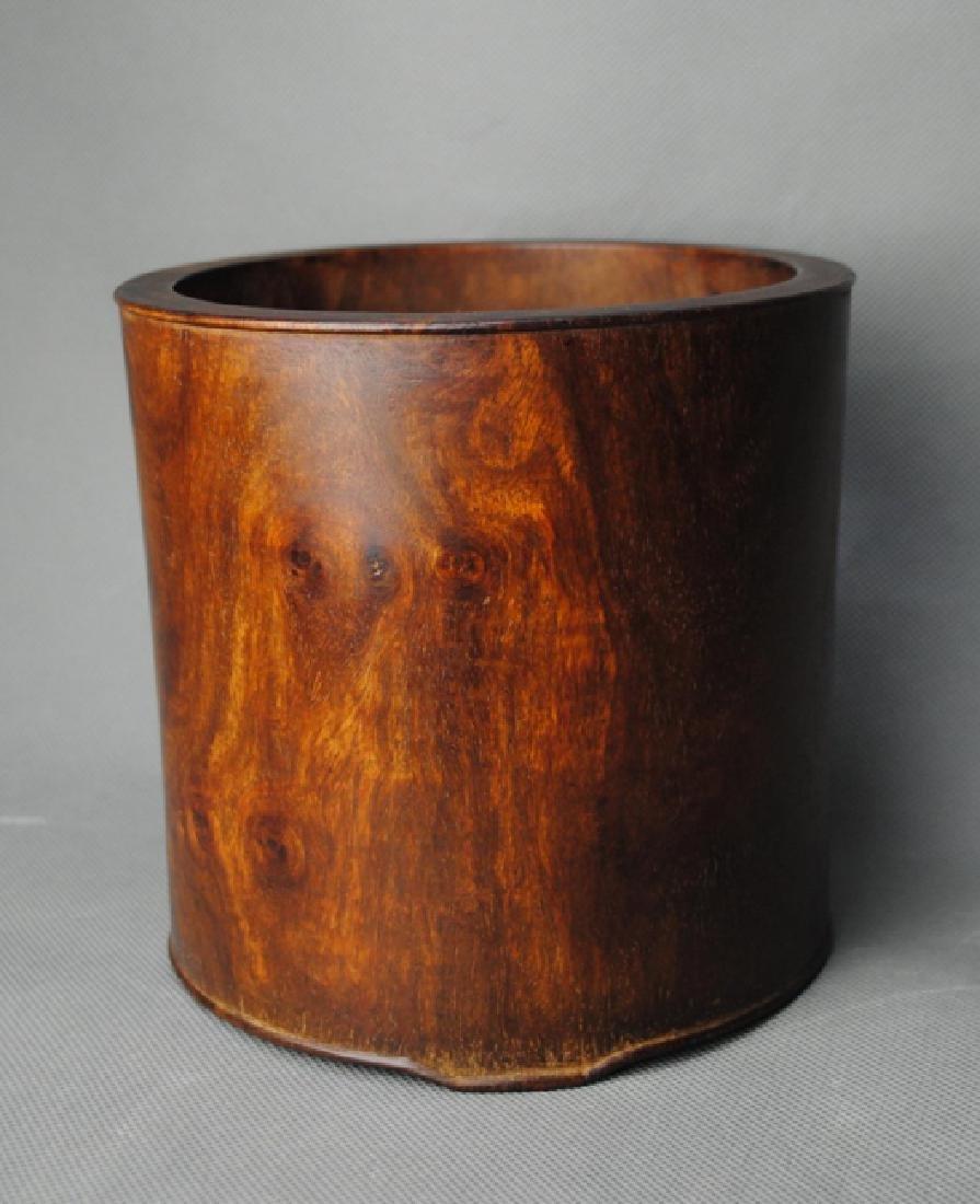 a HuangHuaLi brush pot - 5