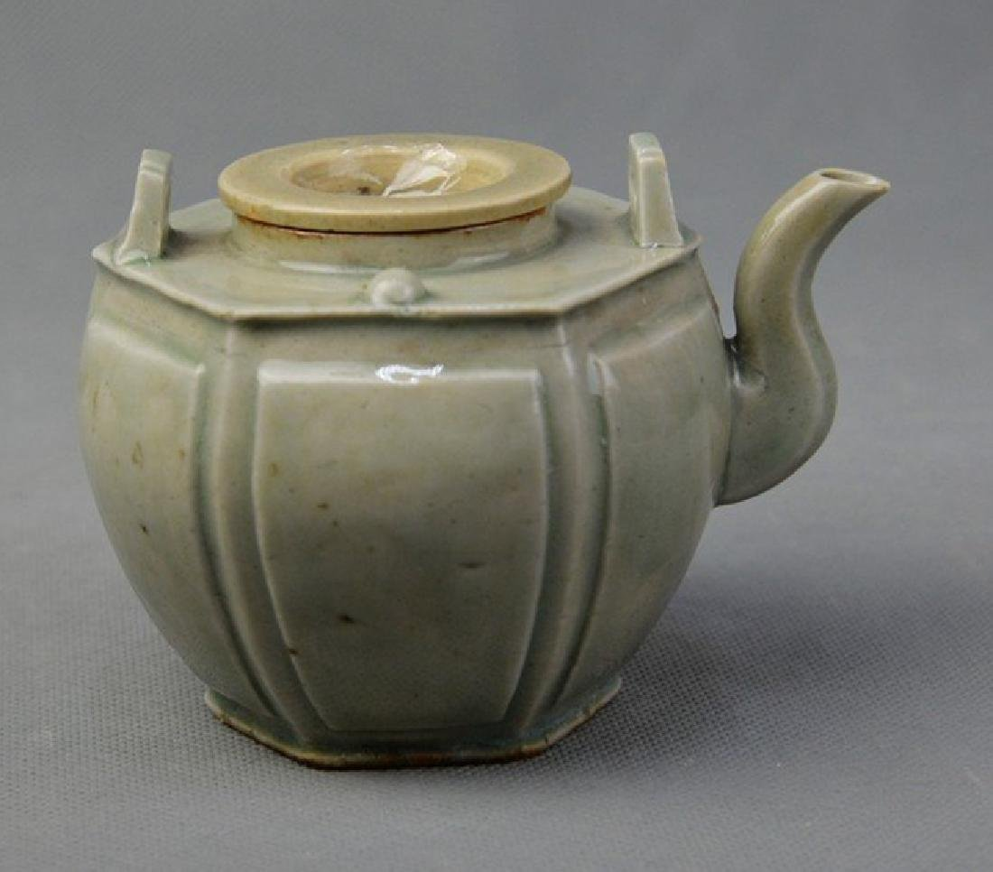 Hexagon Celadon Teapot