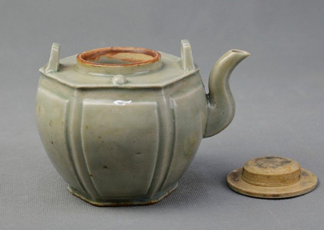 Hexagon Celadon Teapot - 2