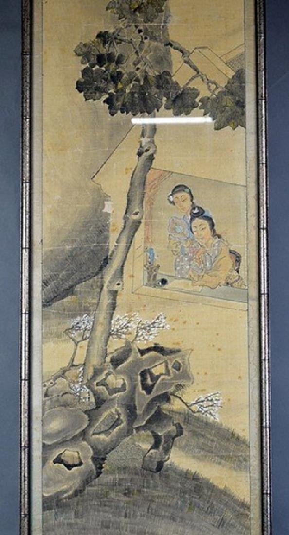 Chinese Painting 2 Ladies by Wu Rong Gun
