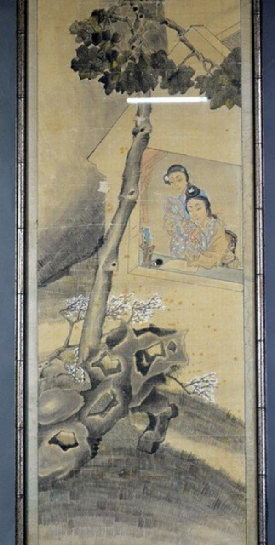 Chinese Painting 2 Ladies by Wu Rong Gun - 2
