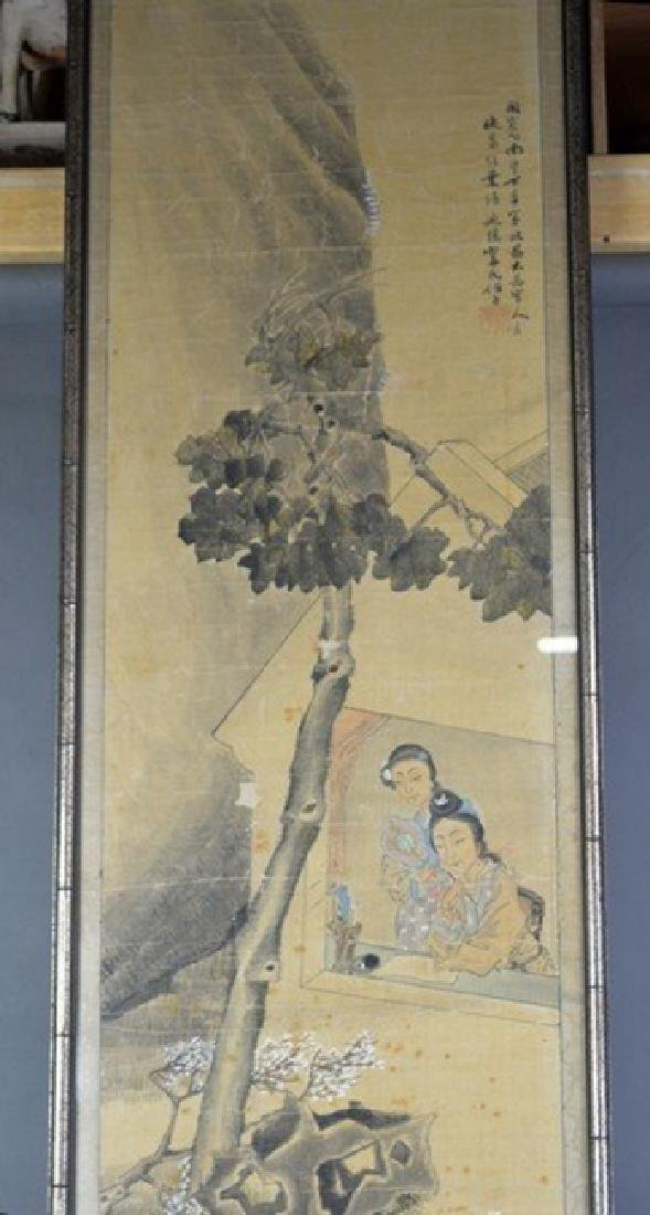 Chinese Painting 2 Ladies by Wu Rong Gun - 3