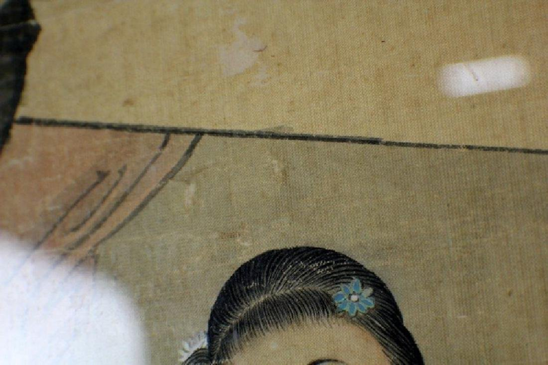 Chinese Painting 2 Ladies by Wu Rong Gun - 6