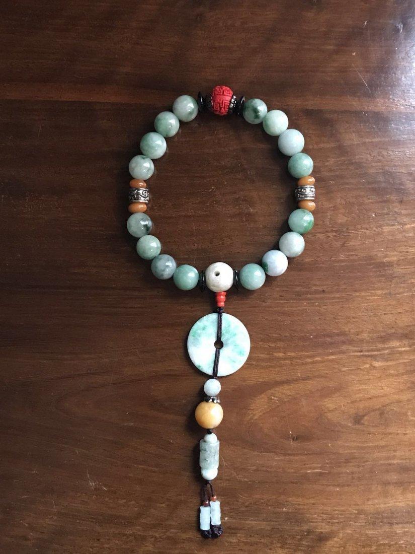 Chinese Jade 18 Beads Bracelet