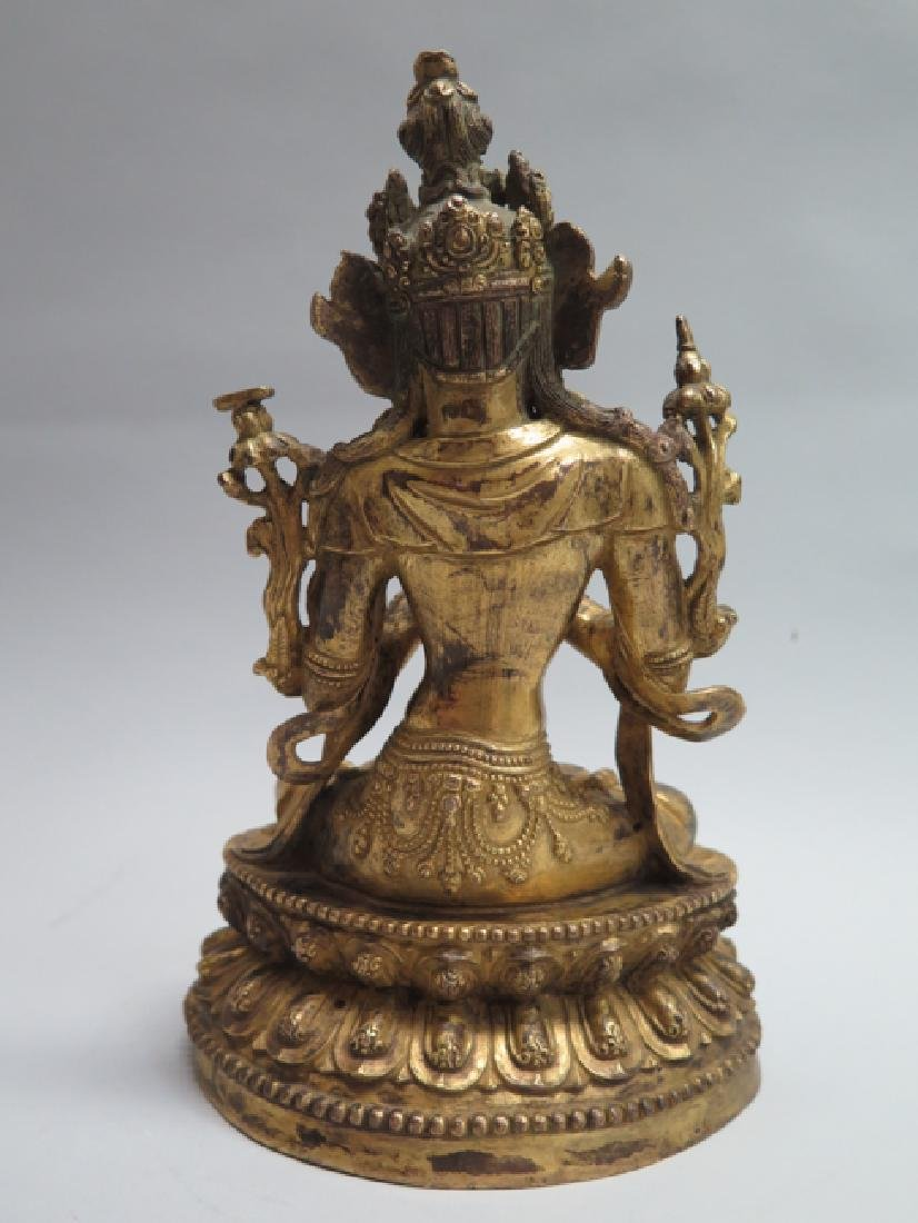A gilt bronze figure of Tara - 5