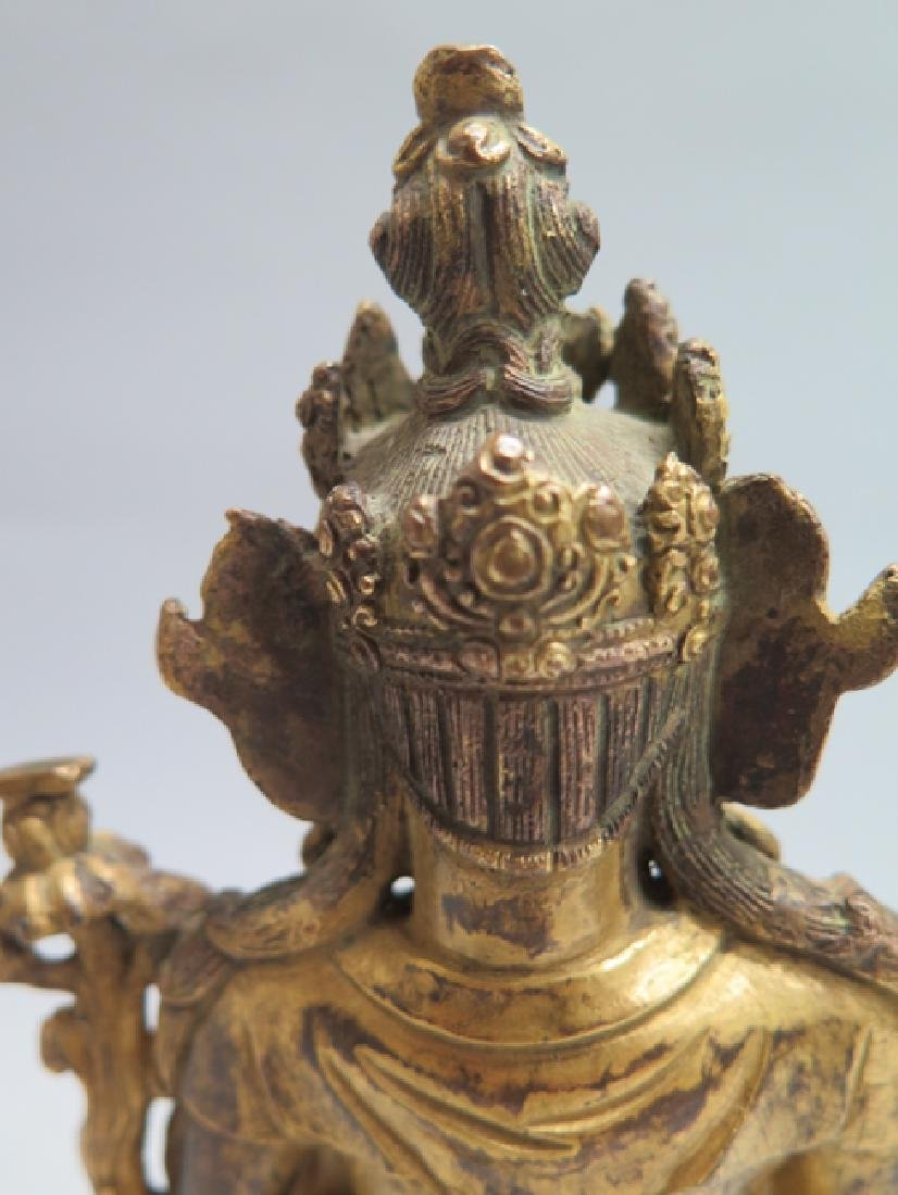 A gilt bronze figure of Tara - 6