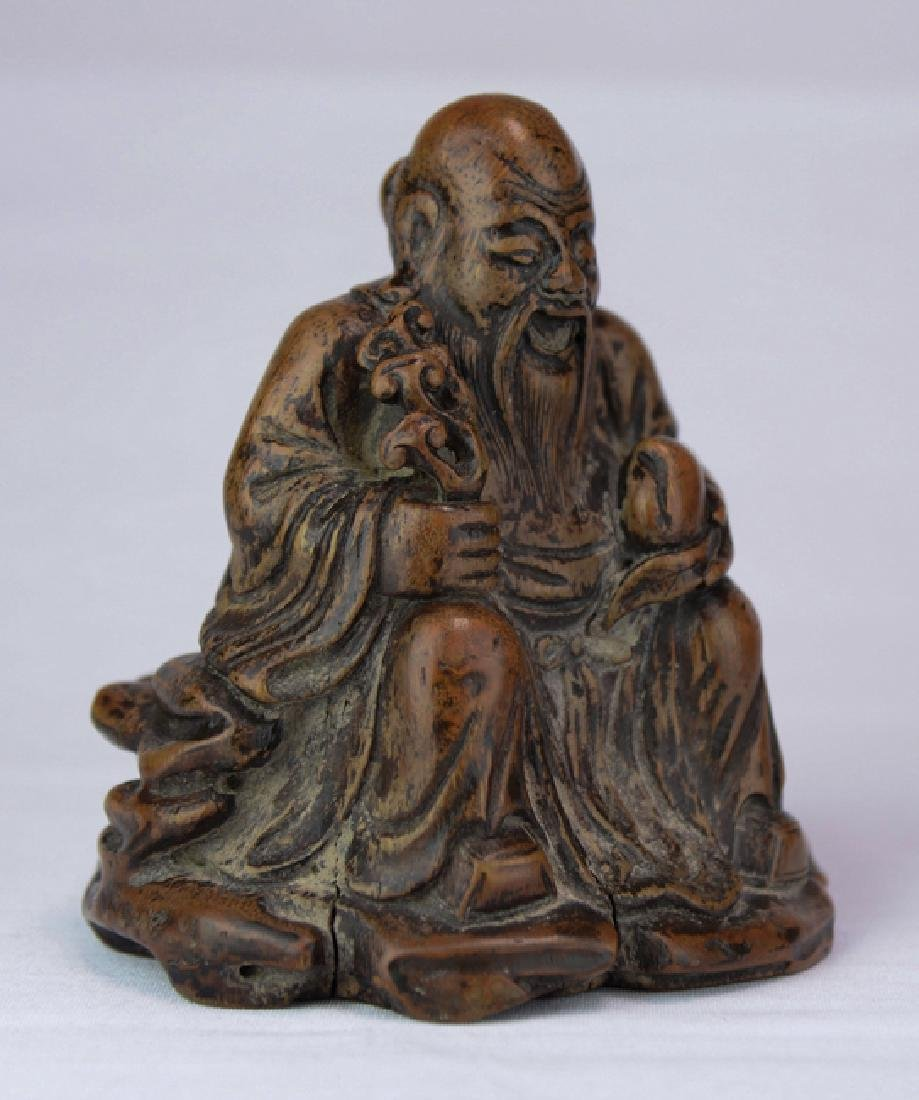A wood figure of solau - 5