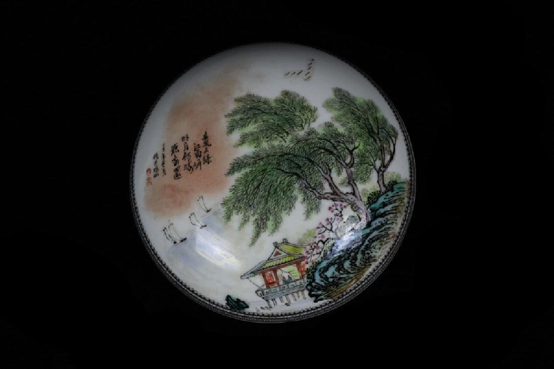 Chinese Famille Rose Round Porcelain Box