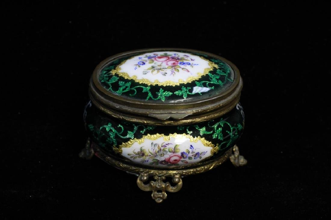 Green Enamel Box
