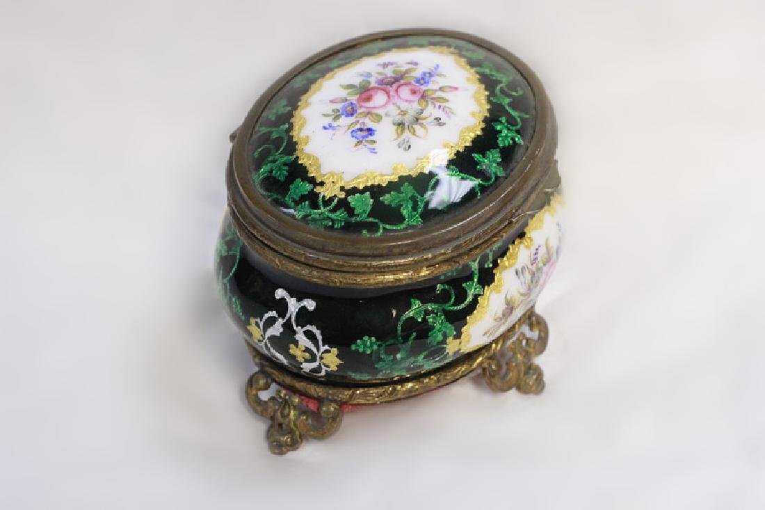 Green Enamel Box - 2