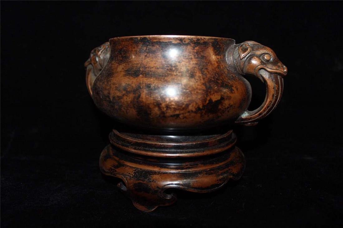 A Bronze Censer With Base - 2