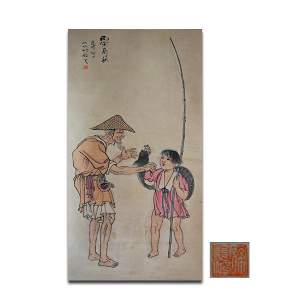 Attributed To Xu Beihong Figure Painting