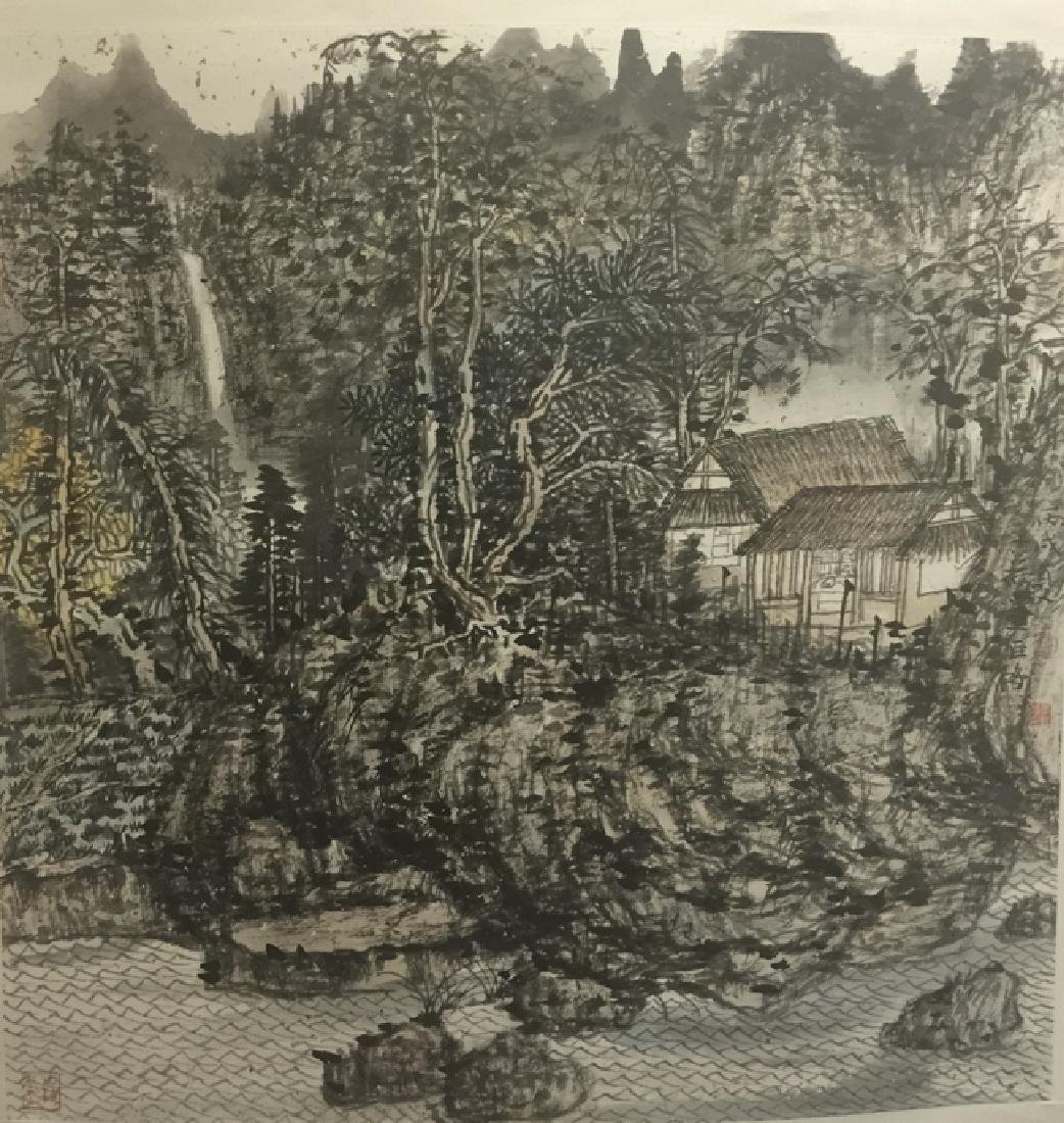 A Hanging Scroll Ink on Paper, Signed by Chang Ju Hong