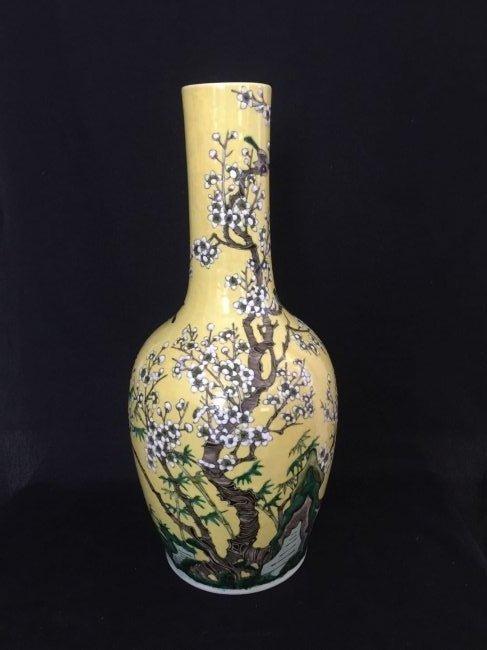 A long neck porcelain vase