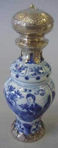 Chinese Kangxi Blue & White Bottle Vase