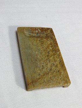 Ming Dynasty,celadon+russe Jade Inkstone