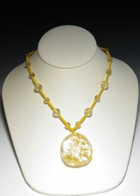 Crystal Beads Necklace And Pendant