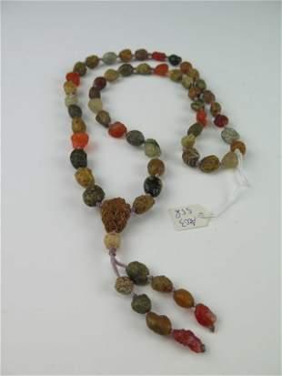 Multi color agates necklace