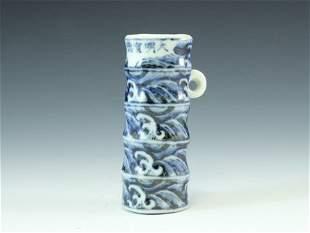 Blue &white porcelain bird feeder with xuan de mark
